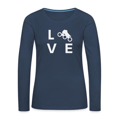 Speedskating Liebe - Frauen Premium Langarmshirt