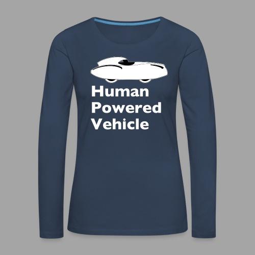 Quattrovelo Human Powered Vehicle white - Naisten premium pitkähihainen t-paita