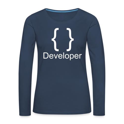 Developer - Frauen Premium Langarmshirt