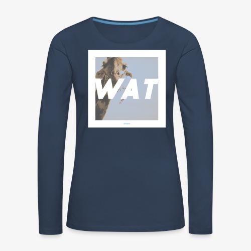 WAT #01 - Frauen Premium Langarmshirt