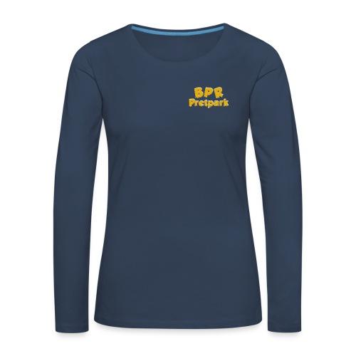 BPR Pretpark borstlogo - Vrouwen Premium shirt met lange mouwen