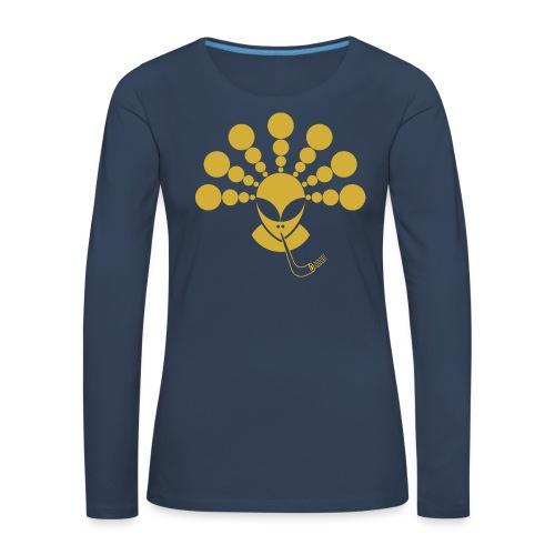 The Gold Smoking Alien - Women's Premium Longsleeve Shirt