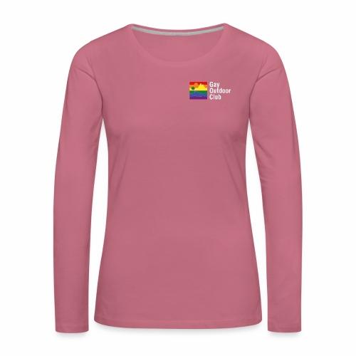 GOC Logo White Text - Women's Premium Longsleeve Shirt