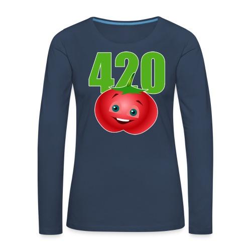 Tomate 420 - Frauen Premium Langarmshirt