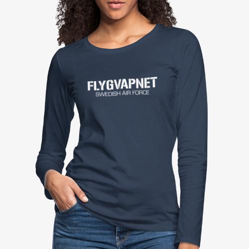 FLYGVAPNET - SWEDISH AIR FORCE - Långärmad premium-T-shirt dam