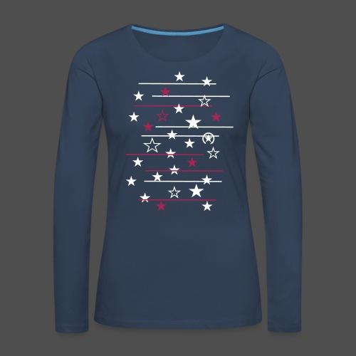 gwiazda - Koszulka damska Premium z długim rękawem