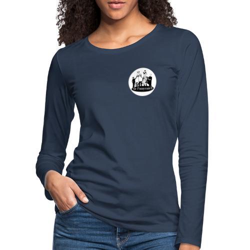 Ale Ponnyranch, vit bakgrund - Långärmad premium-T-shirt dam