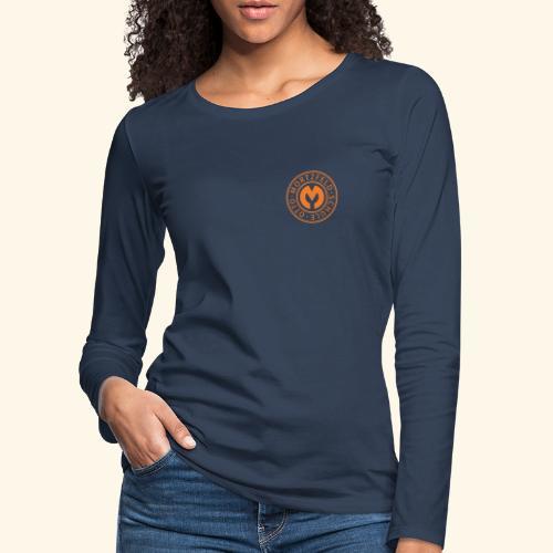 Otto-Mortzfeld-Schule Logo orange - Frauen Premium Langarmshirt