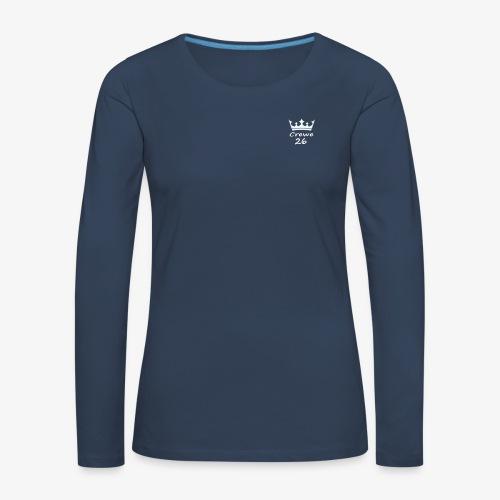 Crewe 26 Be A King (White Edition) - Women's Premium Longsleeve Shirt