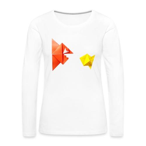 Origami Piranha and Fish - Fish - Pesce - Peixe - Women's Premium Longsleeve Shirt