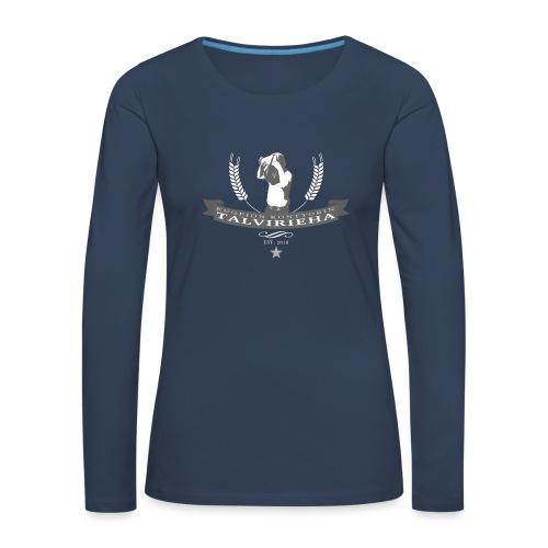 Talvirieha - Naisten premium pitkähihainen t-paita