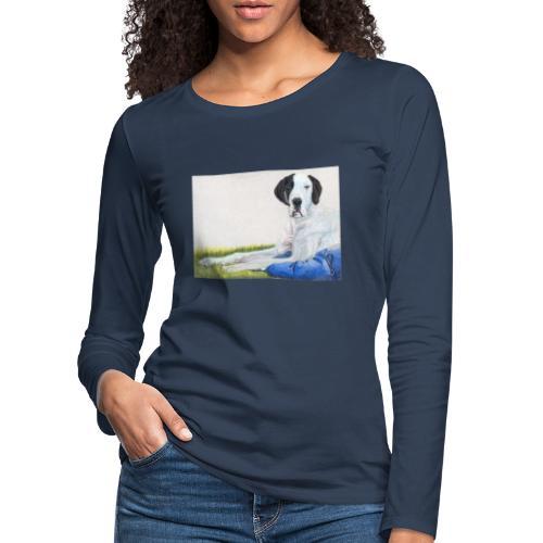 Grand danios harlequin - Dame premium T-shirt med lange ærmer