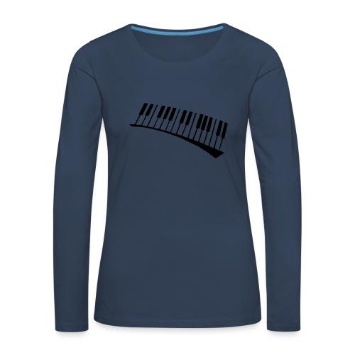 Piano - Camiseta de manga larga premium mujer