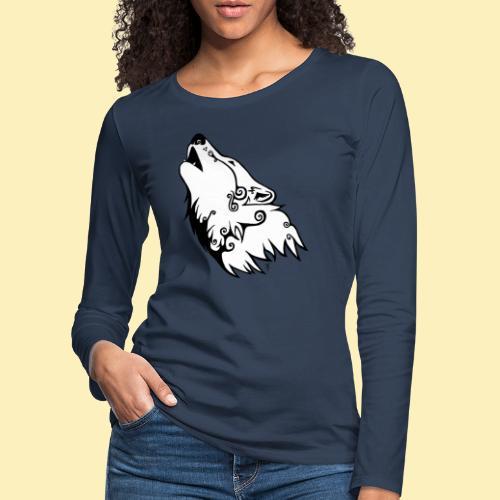 Le Loup de Neved (version blanche) - T-shirt manches longues Premium Femme