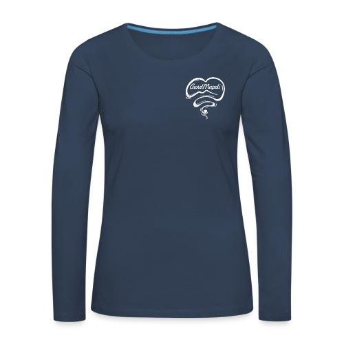 CuordiNapoli New Logo - Maglietta Premium a manica lunga da donna