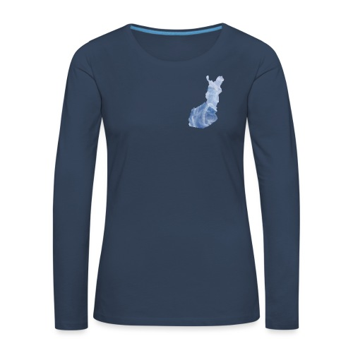 Suomi Finland - Naisten premium pitkähihainen t-paita