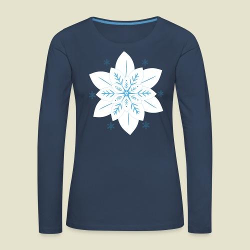 Snowflake - Frauen Premium Langarmshirt