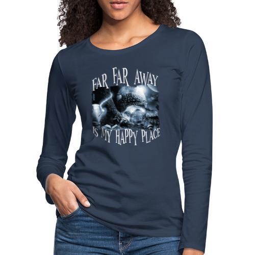My Happy Place - Black & White - Vrouwen Premium shirt met lange mouwen