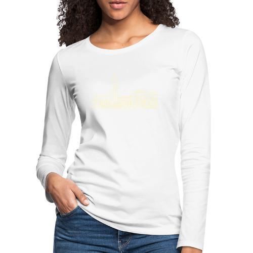 Helsinki railway station pattern trasparent beige - Women's Premium Longsleeve Shirt