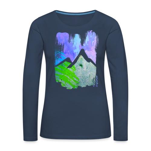BergMorgen - Frauen Premium Langarmshirt