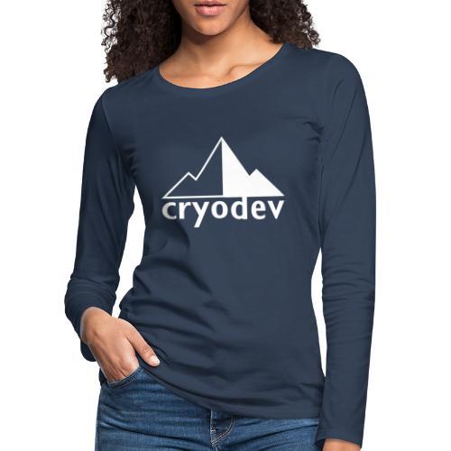 Cryodev AB Logo - Långärmad premium-T-shirt dam