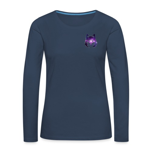 Galaxy wolf - T-shirt manches longues Premium Femme