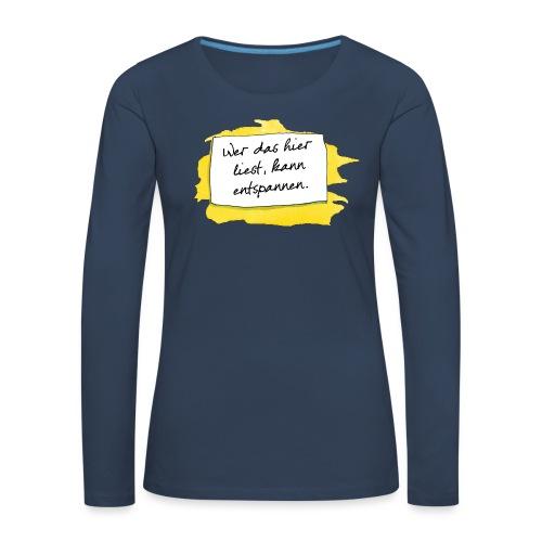 Janosch Wer Das Liest Spruch - Frauen Premium Langarmshirt