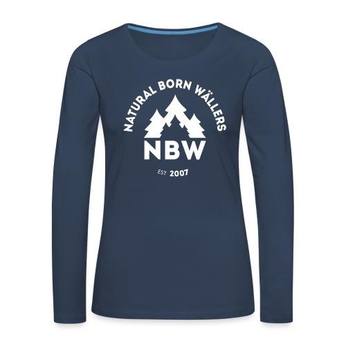 NBW Grau plain - Frauen Premium Langarmshirt