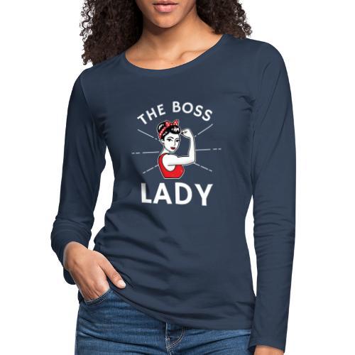 The Boss Lady - Naisten premium pitkähihainen t-paita