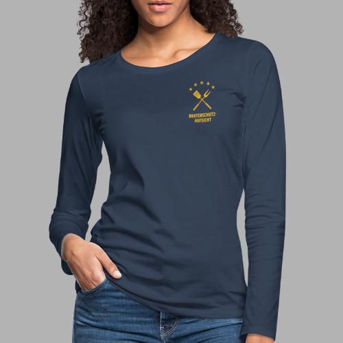 EU Bratenschutz-Aufsicht - Frauen Premium Langarmshirt