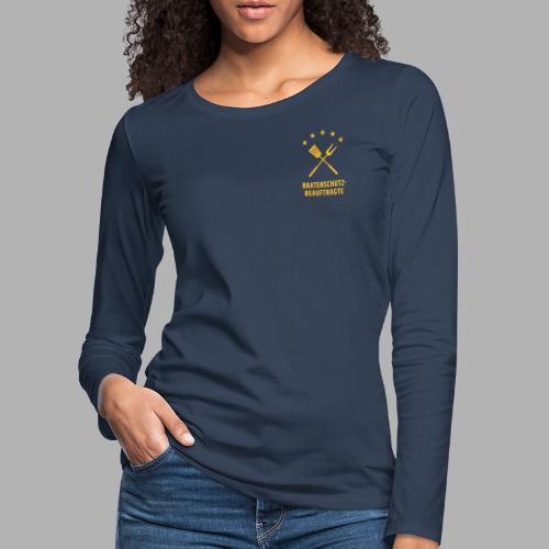 EU Bratenschutz-Beauftragte - Frauen Premium Langarmshirt