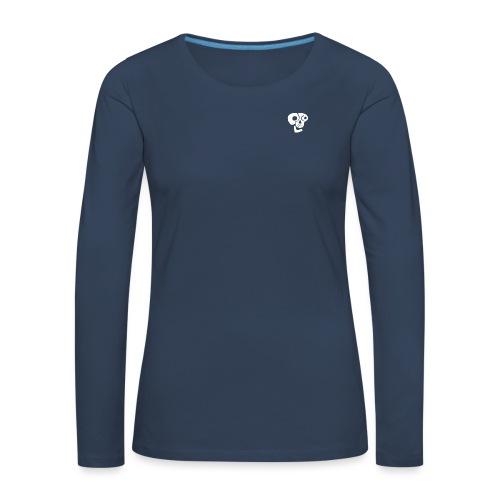Poco Loco skull logo white - Women's Premium Longsleeve Shirt