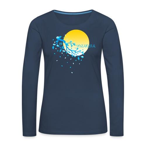 Cherry Blossom Festval Full Moon 2 - Frauen Premium Langarmshirt