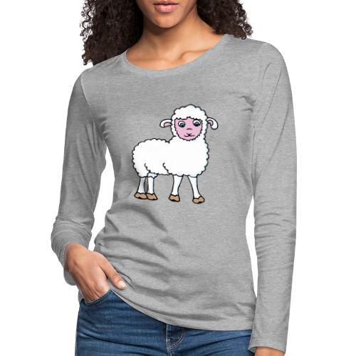 Minos le petit agneau - T-shirt manches longues Premium Femme