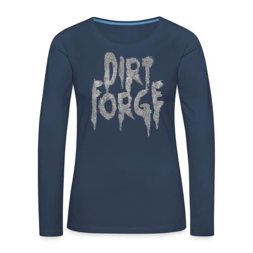 Dirt Forge Gravel t-shirt - Dame premium T-shirt med lange ærmer