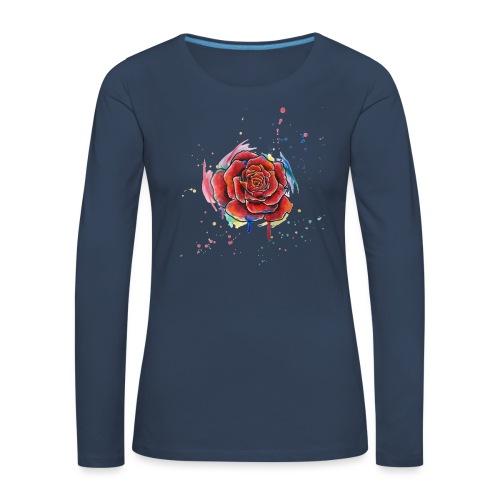 Rose Watercolors Nadia Luongo - Maglietta Premium a manica lunga da donna
