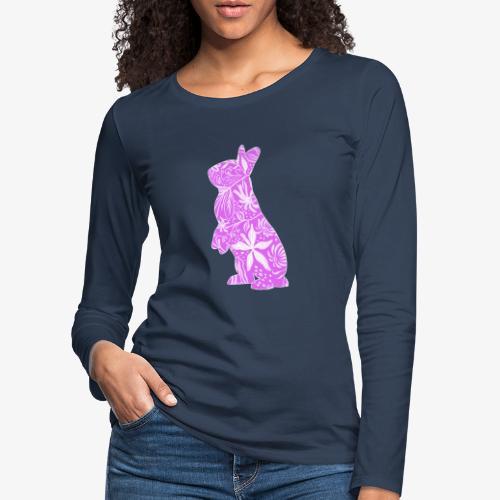 Flower Bunny IV - Naisten premium pitkähihainen t-paita