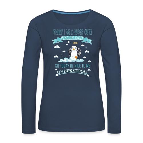 Pinguin Engel Weihnachten Antarktis Shirt Geschenk - Frauen Premium Langarmshirt