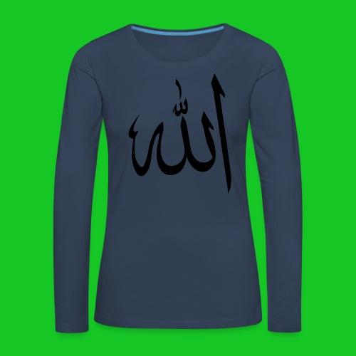 Allah - Vrouwen Premium shirt met lange mouwen