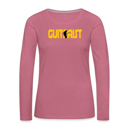 Guitarist - Women's Premium Longsleeve Shirt