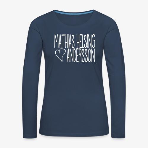 Mathias Helsing Andersson Hjärta - Långärmad premium-T-shirt dam