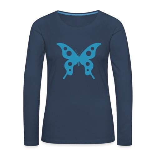 mariposa - Camiseta de manga larga premium mujer