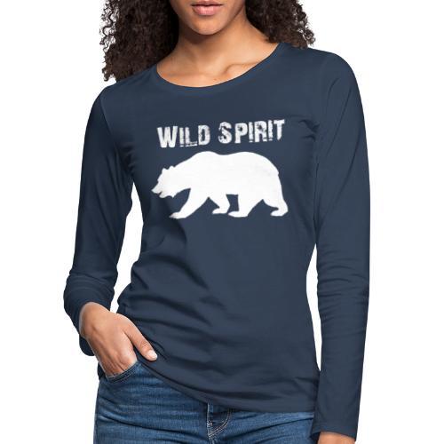 Wild Spirit - Bear - Vrouwen Premium shirt met lange mouwen