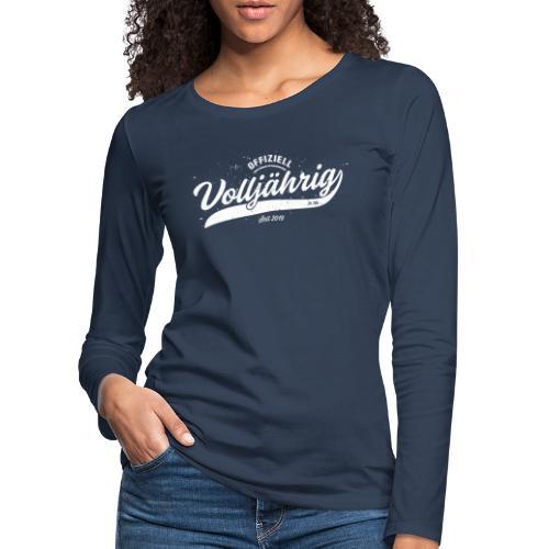 Offiziell volljährig Vintage 18.Geburtstag - Frauen Premium Langarmshirt