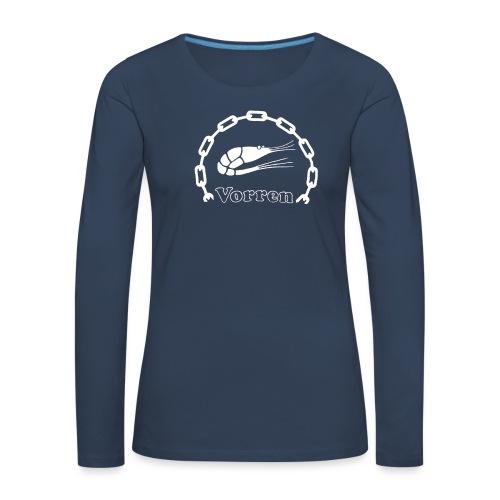 Vorren Logo CLASSIC [White] - Långärmad premium-T-shirt dam