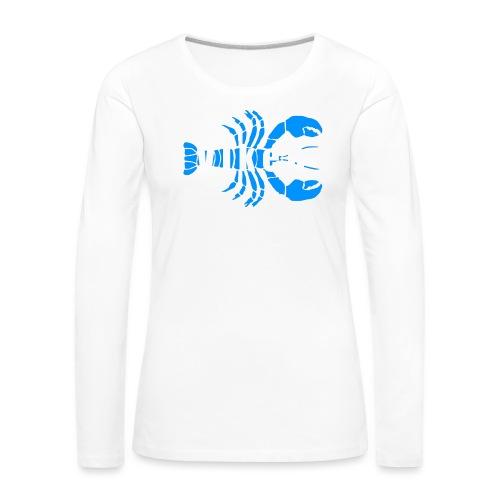 Vorren Logo HUMMERSÄSONG (Blå/Vit) - Långärmad premium-T-shirt dam