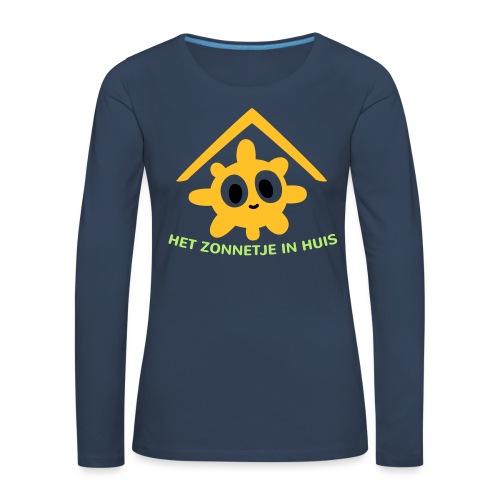 Grappige Rompertjes: Het zonnetje in huis - Vrouwen Premium shirt met lange mouwen