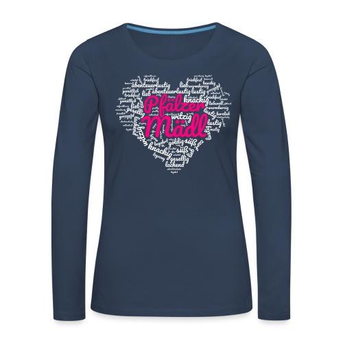 Herzl: Pfälzer Mädl - Frauen Premium Langarmshirt