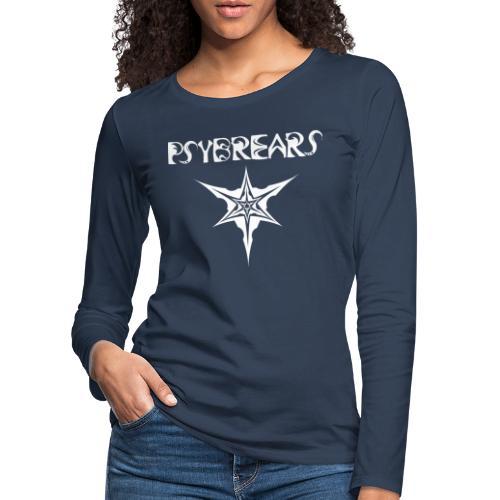Psybreaks visuel 1 - text - black white - T-shirt manches longues Premium Femme