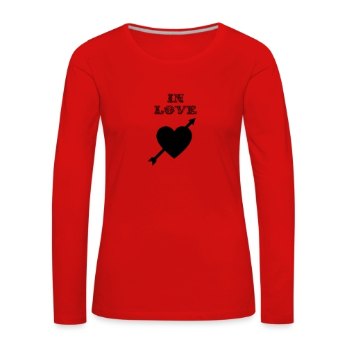 I'm In Love - Maglietta Premium a manica lunga da donna